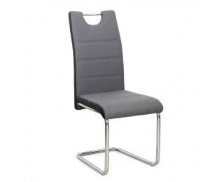 Jedálenská stolička Izma - tmavosivá / čierna / chróm