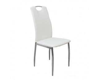 Jedálenská stolička Ervina - biela / chróm