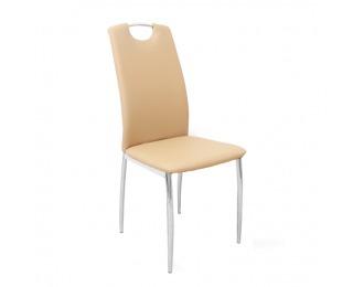 Jedálenská stolička Ervina - béžová / chróm