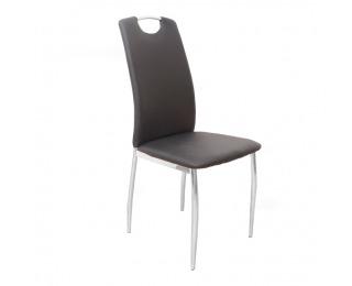 Jedálenská stolička Ervina - čierna / chróm