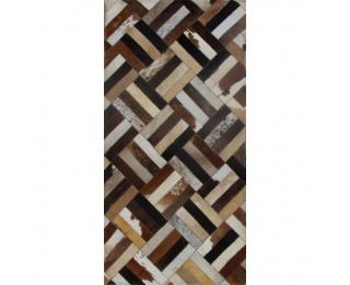 Kožený koberec Typ 2 70x140 cm - vzor patchwork
