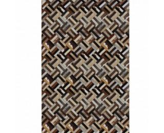 Kožený koberec Typ 2 200x300 cm - vzor patchwork