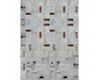 Kožený koberec Typ 1 140x200 cm - vzor patchwork