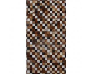 Kožený koberec Typ 3 168x240 cm - vzor patchwork