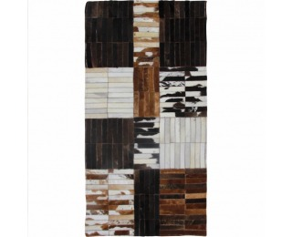 Kožený koberec Typ 4 201x300 cm - vzor patchwork