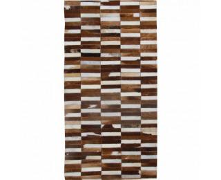Kožený koberec Typ 5 201x300 cm - vzor patchwork