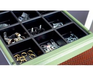 Plastový organizér do zásuvky 06-4754 40x48,3 cm - čierna