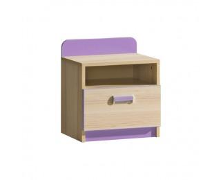 Nočný stolík Ego L12 - jaseň / fialová
