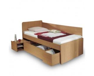 Jednolôžková posteľ s úložným priestorom Oto 90 - buk