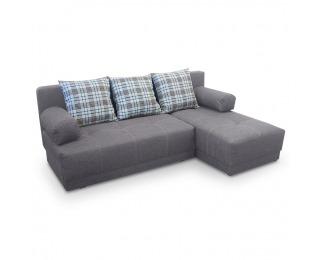 Rohová sedačka s rozkladom a úložným priestorom Mexx P - sivá / vzor
