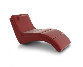 Relaxačné kreslo Long - červená