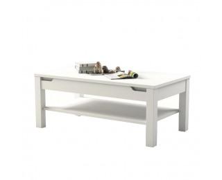 Konferenčný stolík Adonis AS 96 - biela / biely vysoký lesk