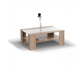 Konferenčný stolík Ariadna - dub sonoma / biely vysoký lesk