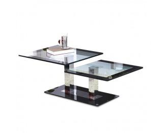 Konferenčný stolík Gabriel - oceľ / sklo