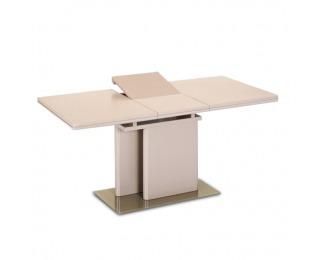Rozkladací jedálenský stôl Virat - cappuccino vysoký lesk