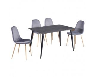 Jedálenský stôl Kabor - čierna