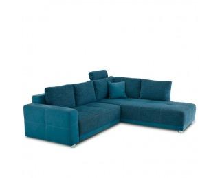 Rohová sedačka s rozkladom a úložným priestorom Orlan L/P - tyrkysová