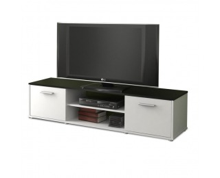 TV stolík Zuno New 1 - čierna / biela