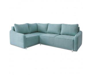 Rohová sedačka s rozkladom a úložným priestorom Lena L - mentolová