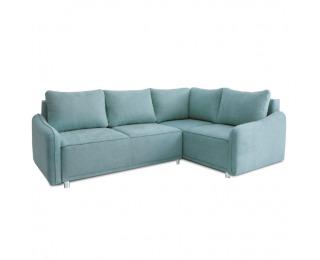 Rohová sedačka s rozkladom a úložným priestorom Lena P - mentolová
