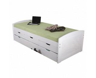 Drevená posteľ s prístelkou Marinella 90 - biela