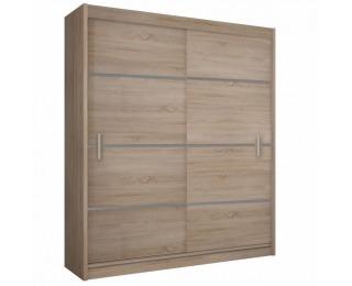 Šatníková skriňa s posuvnými dverami Merina 203 2D - dub sonoma / sivá
