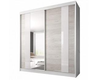 Šatníková skriňa s posuvnými dverami Multi 32 183x218 cm - dub kathult svetlý / biela