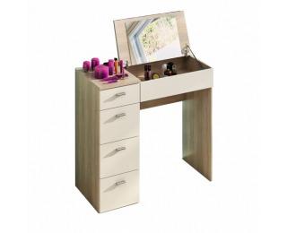 Toaletný stolík Belina - dub sonoma / biela