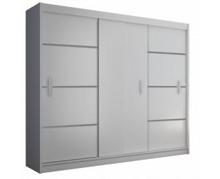Šatníková skriňa s posuvnými dverami Merina 250 3D - biela / čierna