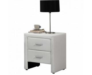 Čalúnený nočný stolík Castel - biela