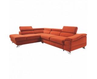 Rohová sedačka s rozkladom a úložným priestorom Legas L - terakota
