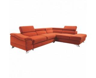 Rohová sedačka s rozkladom a úložným priestorom Legas P - terakota