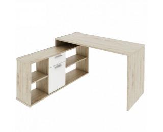 Rohový písací stolík Noe New - dub san remo / biela