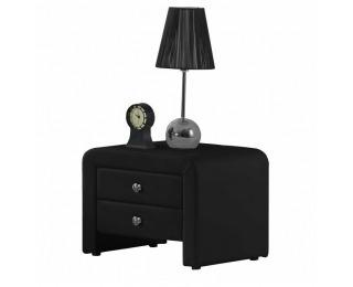 Čalúnený nočný stolík Wilson - čierna