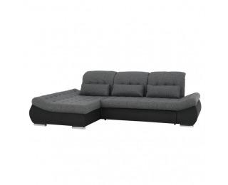 Rohová sedačka s rozkladom Delmara L - sivá / tmavosivá