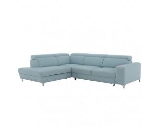 Rohová sedačka Gevona OL+R+2BP L - mentolová / krémové šitie