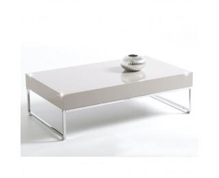 Konferenčný stolík Lotti - biely vysoký lesk