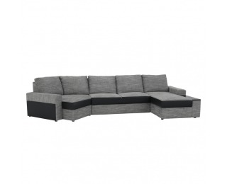 Rohová sedačka s rozkladom a úložným priestorom Roy P - čierna / sivohnedá
