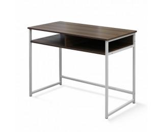 PC stolík Harald - orech / biela