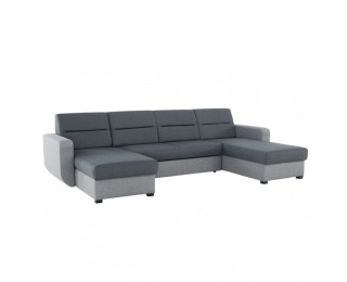 Rohová sedačka U s rozkladom a úložným priestorom Amora L/P - sivá