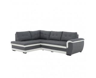 Rohová sedačka s rozkladom a úložným priestorom Ruba L - sivá / cream