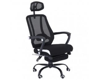 Kancelárske kreslo s podrúčkami Sidro - čierna