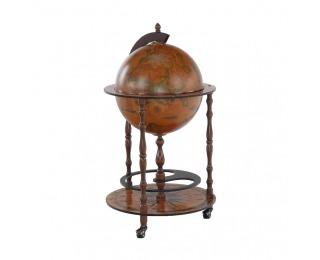 Barový stolík na kolieskach Globus 2-324 - čerešňa
