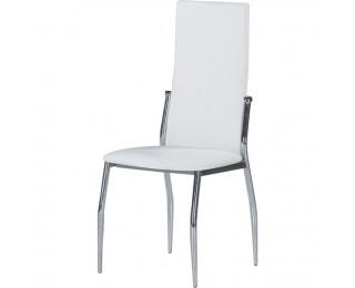 Jedálenská stolička Solana - biela / chróm
