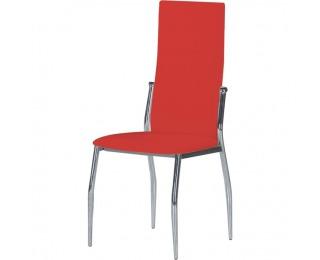 Jedálenská stolička Solana - červená / chróm