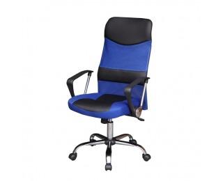 Kancelárske kreslo s podrúčkami TC3-973M - čierna / modrá