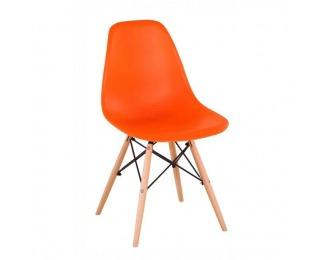 Jedálenská stolička Cinkla 3 New - oranžová / buk