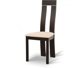 Jedálenská stolička Desi - wenge / béžová