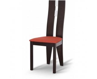 Jedálenská stolička Bona - wenge / terakota