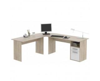 Rohový PC stolík Maurus MA11 - dub sonoma / biela